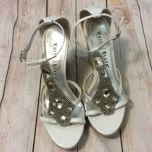 WHBM wedge sandals 8M size 8 heels